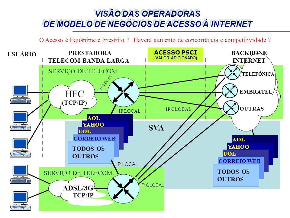 HFC VISÃO DAS OPERADORAS DE MODELO DE NEGÓCIOS DE ACESSO À INTERNET