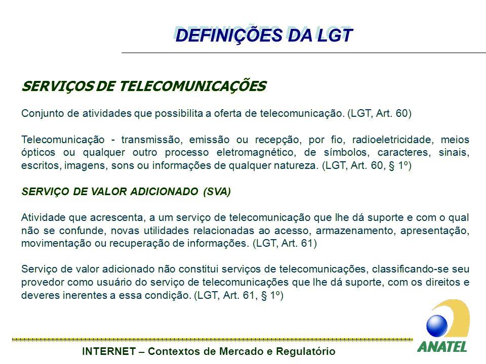 DEFINIÇÕES DA LGT SERVIÇOS DE TELECOMUNICAÇÕES