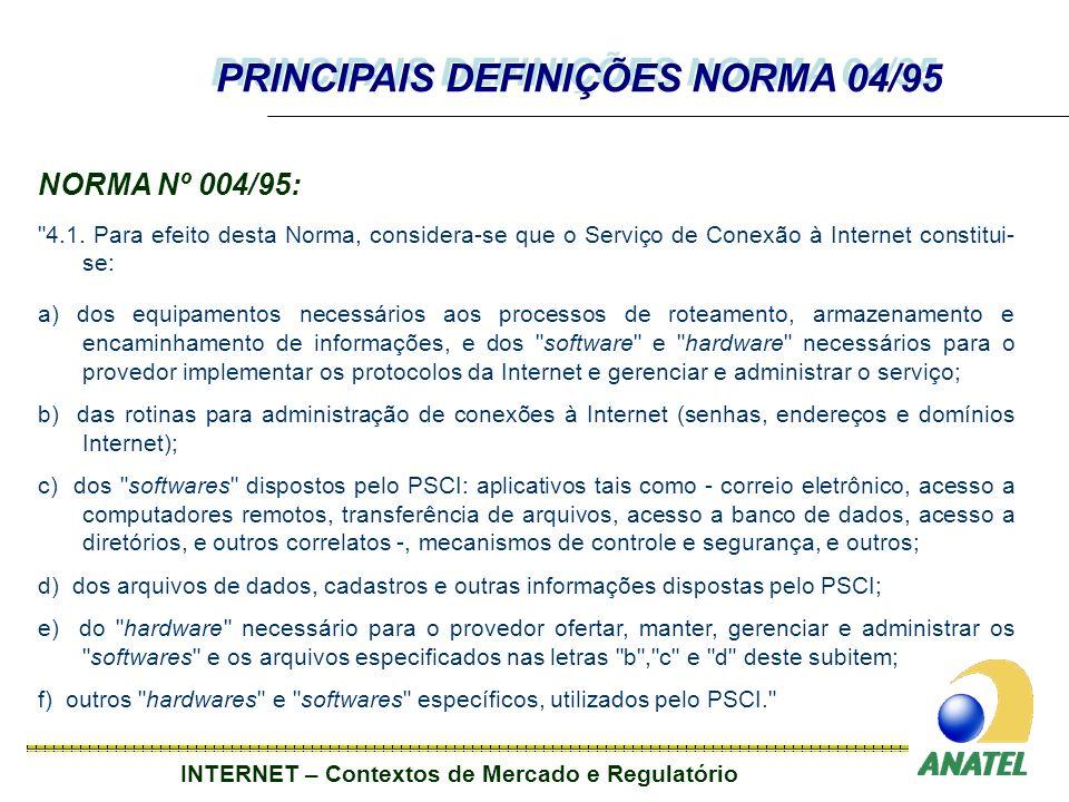 PRINCIPAIS DEFINIÇÕES NORMA 04/95