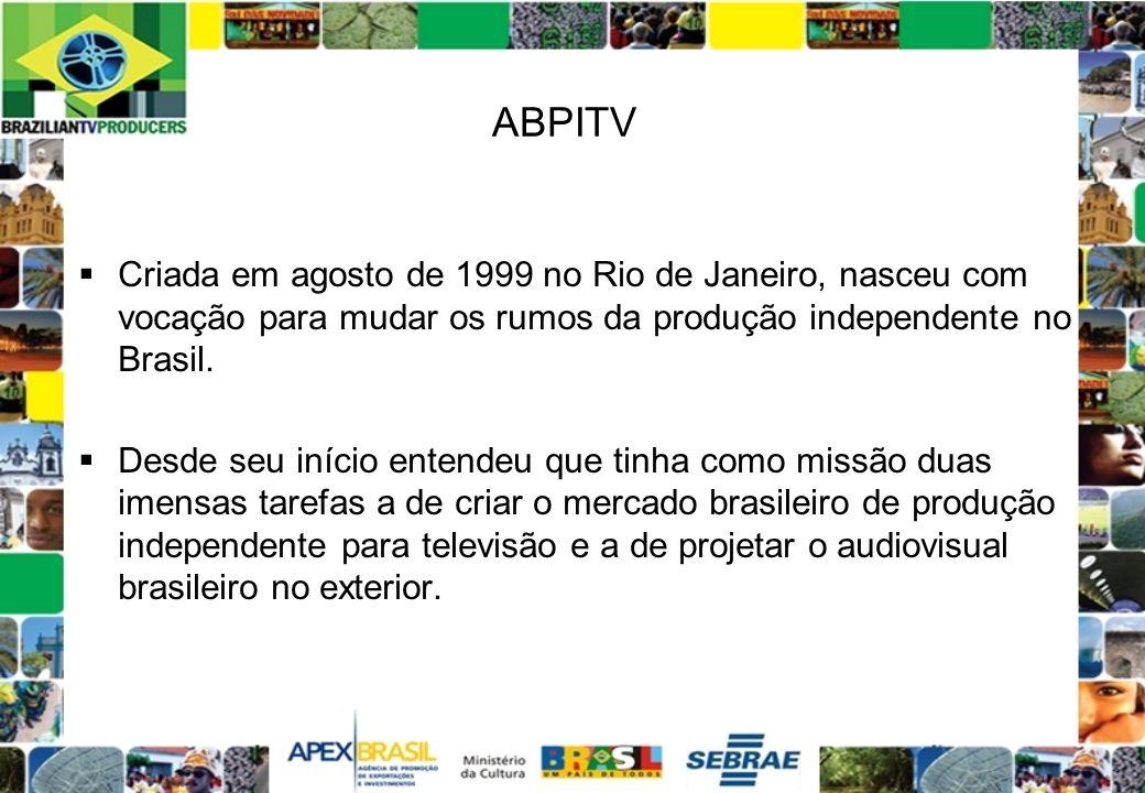 ABPITVCriada em agosto de 1999 no Rio de Janeiro, nasceu com vocação para mudar os rumos da produção independente no Brasil.