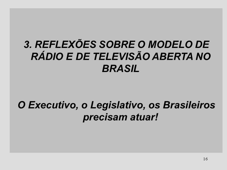 3. REFLEXÕES SOBRE O MODELO DE RÁDIO E DE TELEVISÃO ABERTA NO BRASIL