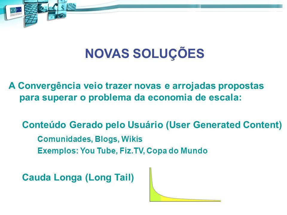 NOVAS SOLUÇÕES A Convergência veio trazer novas e arrojadas propostas para superar o problema da economia de escala: