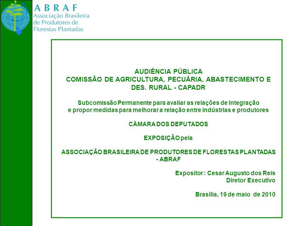 COMISSÃO DE AGRICULTURA, PECUÁRIA, ABASTECIMENTO E DES. RURAL - CAPADR