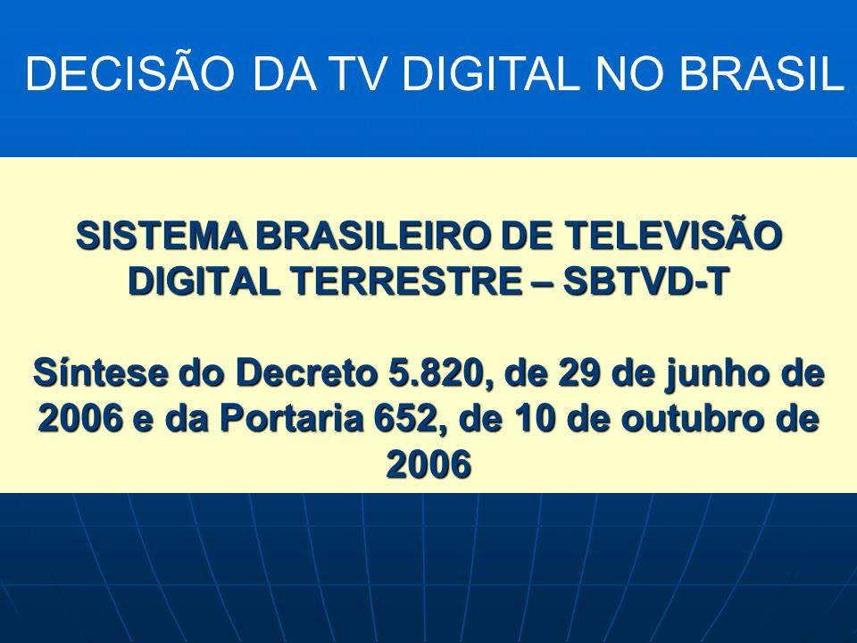 DECISÃO DA TV DIGITAL NO BRASIL