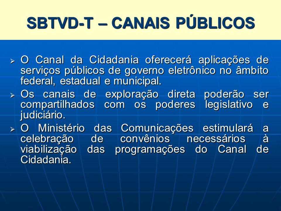 SISTEMA BRASILEIRO DE TELEVISÃO DIGITAL TERRESTRE – SBTVD-T