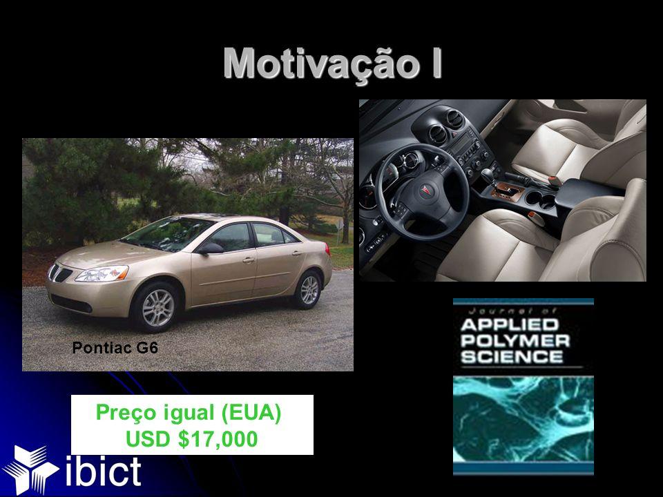 Motivação I Pontiac G6 Preço igual (EUA) USD $17,000