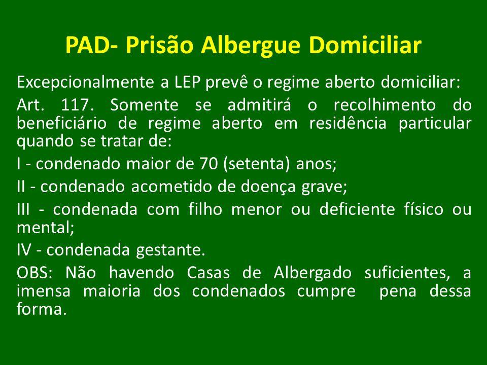 PAD- Prisão Albergue Domiciliar