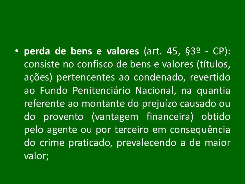 perda de bens e valores (art
