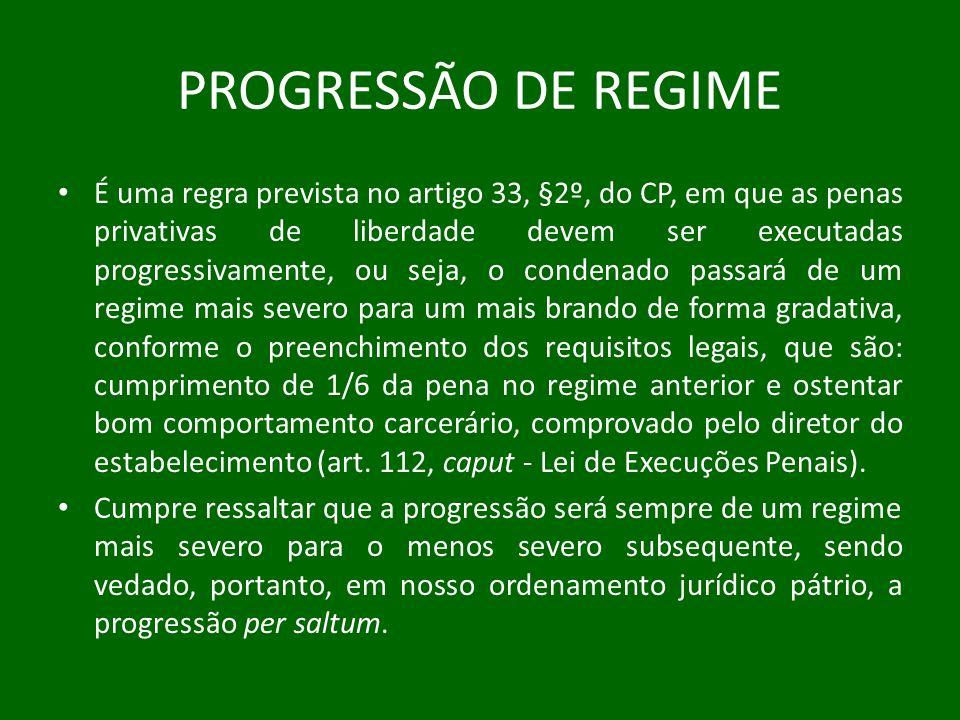 PROGRESSÃO DE REGIME