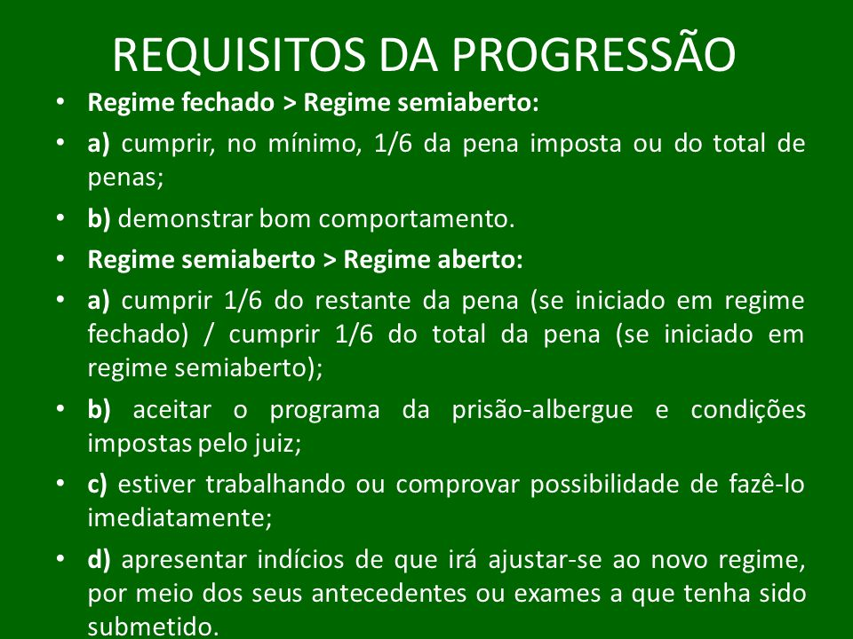 REQUISITOS DA PROGRESSÃO