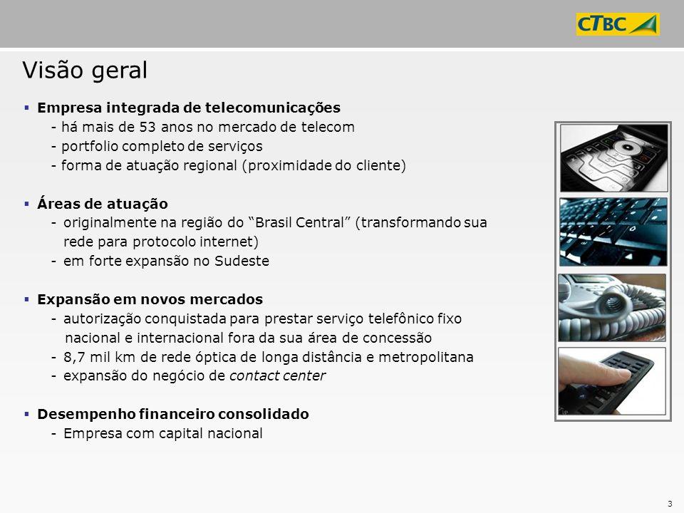 Visão geral Empresa integrada de telecomunicações