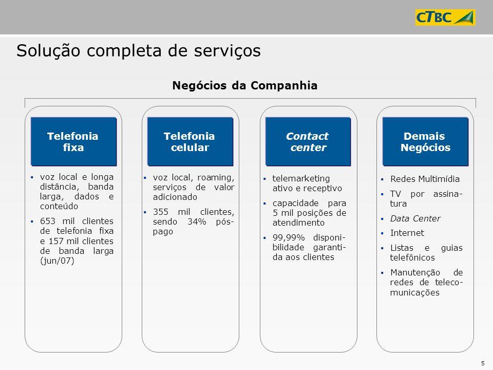 Solução completa de serviços