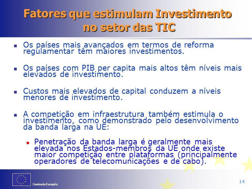 Fatores que estimulam Investimento no setor das TIC