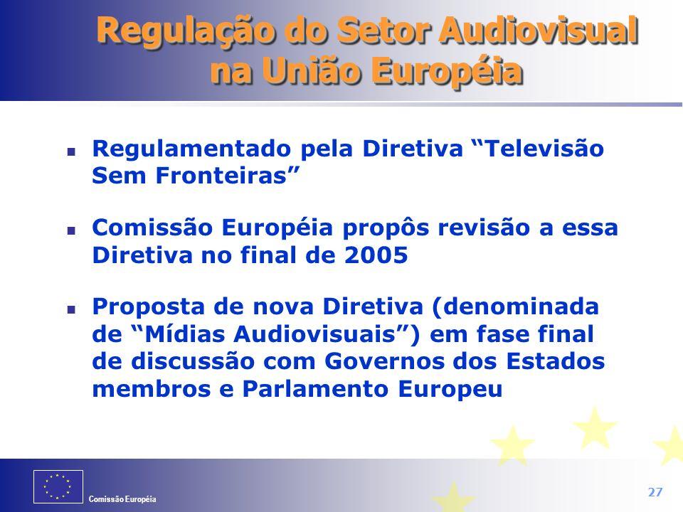 Regulação do Setor Audiovisual na União Européia