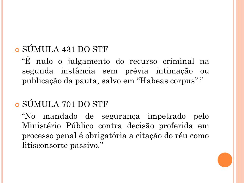 SÚMULA 431 DO STF