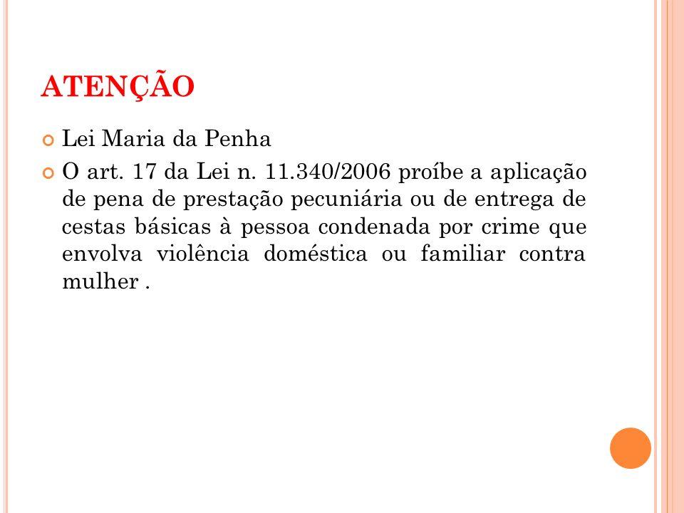 ATENÇÃO Lei Maria da Penha