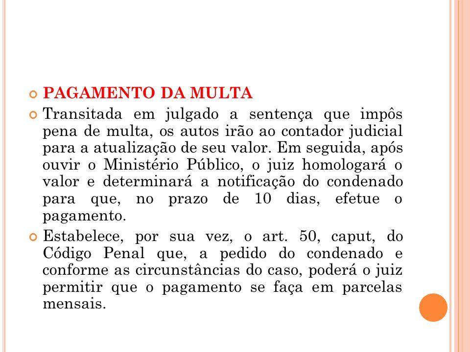 PAGAMENTO DA MULTA