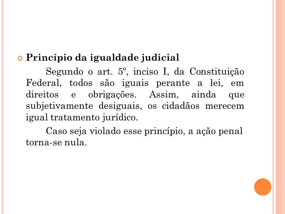 Princípio da igualdade judicial