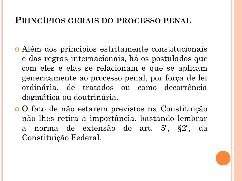 Princípios gerais do processo penal