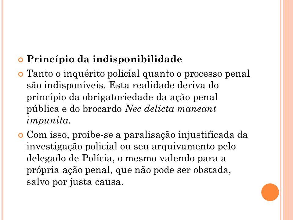 Princípio da indisponibilidade
