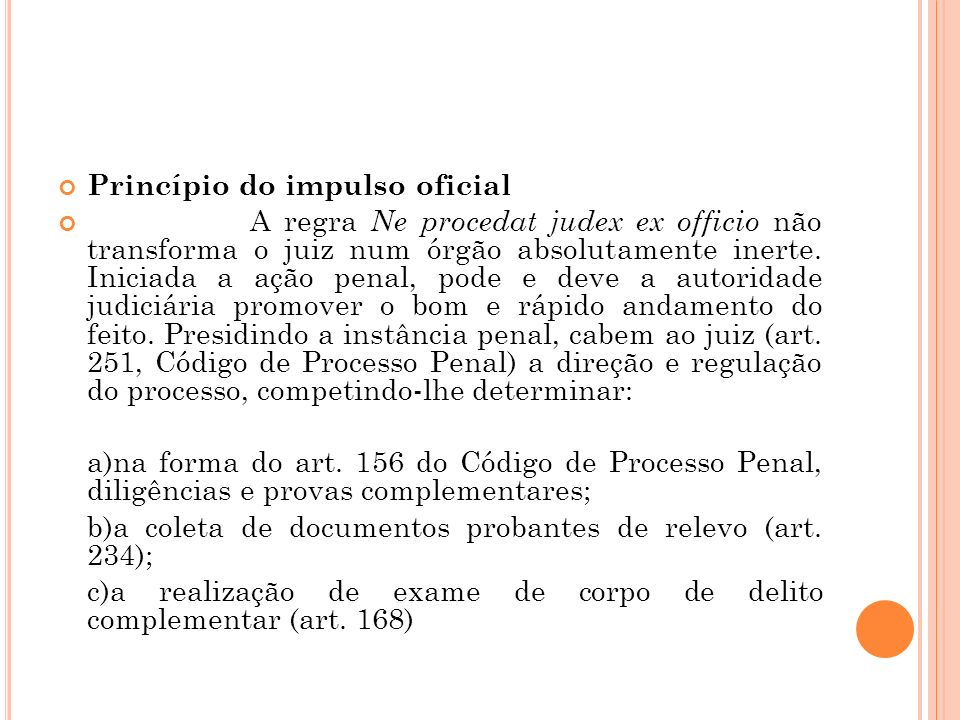 Princípio do impulso oficial