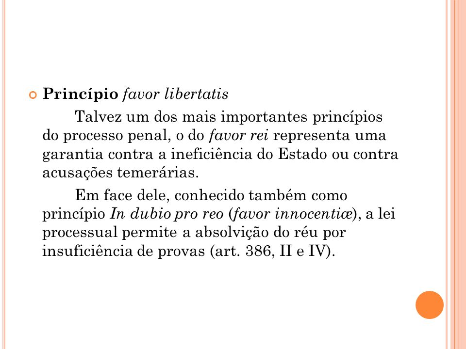 Princípio favor libertatis