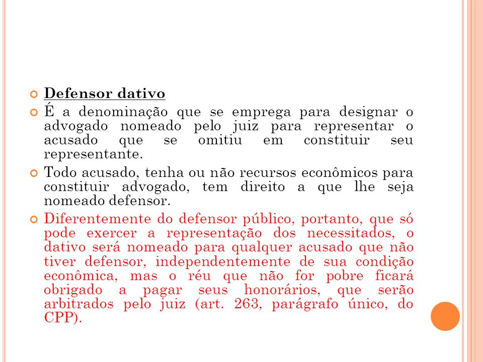 Defensor dativo