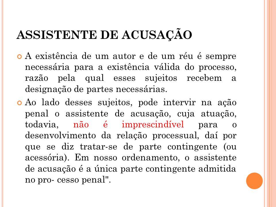 ASSISTENTE DE ACUSAÇÃO