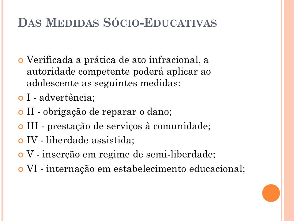 Das Medidas Sócio-Educativas