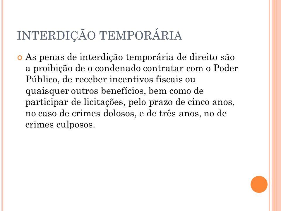 INTERDIÇÃO TEMPORÁRIA