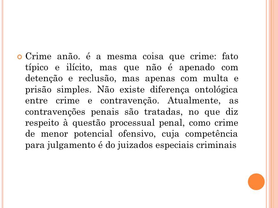 Crime anão.
