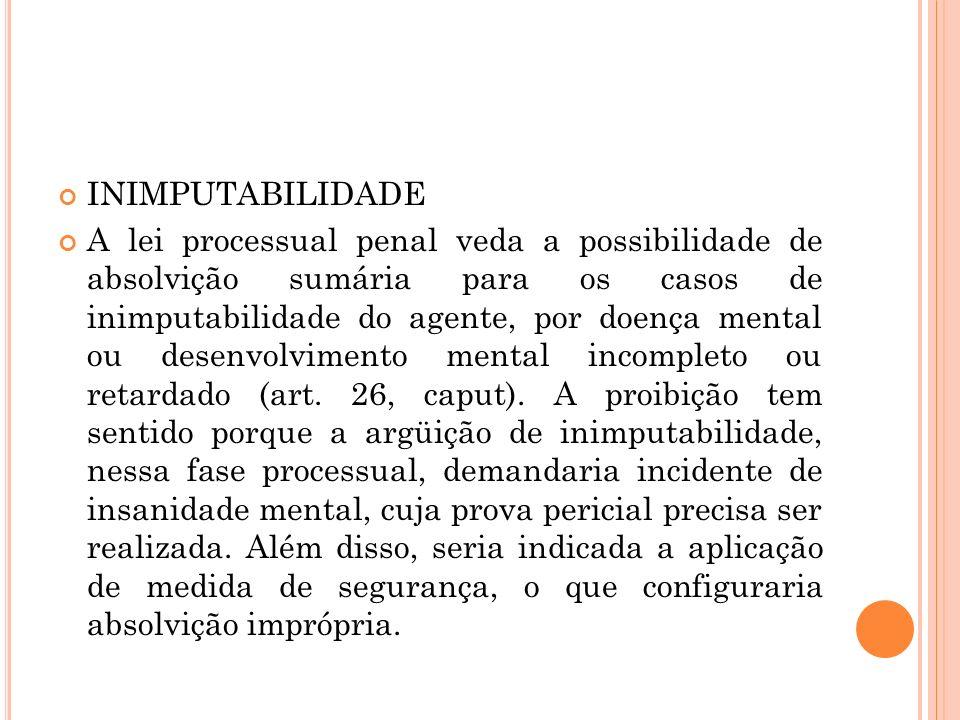 INIMPUTABILIDADE