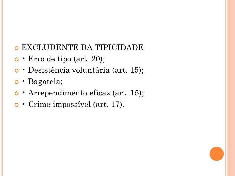 EXCLUDENTE DA TIPICIDADE