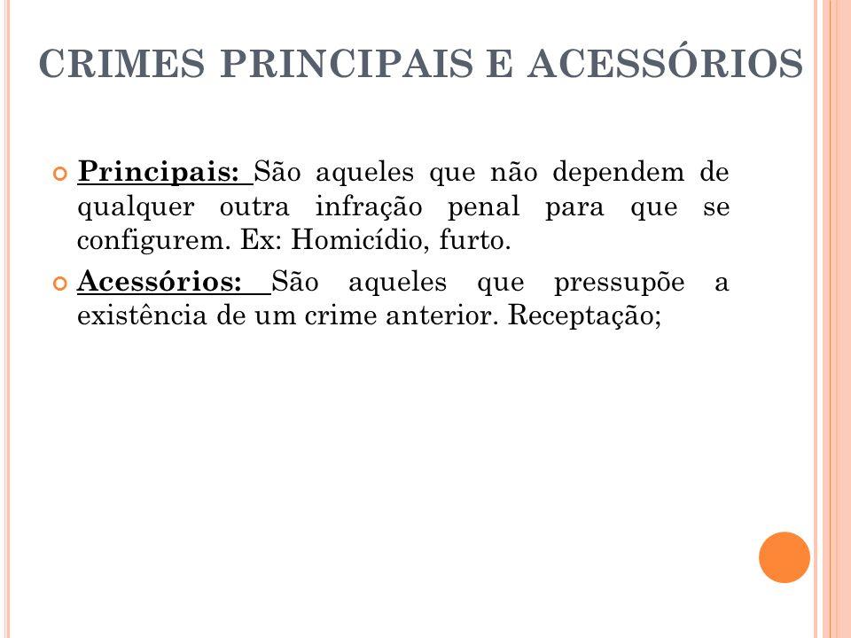 crimes principais e acessórios