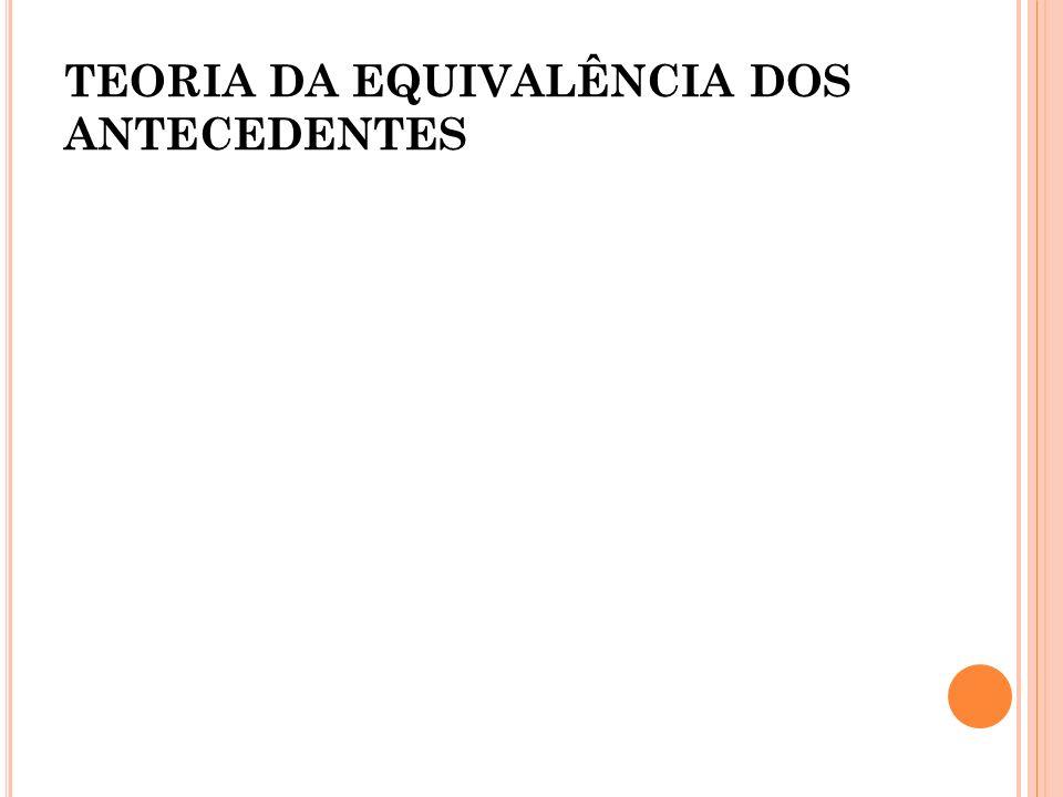 TEORIA DA EQUIVALÊNCIA DOS ANTECEDENTES