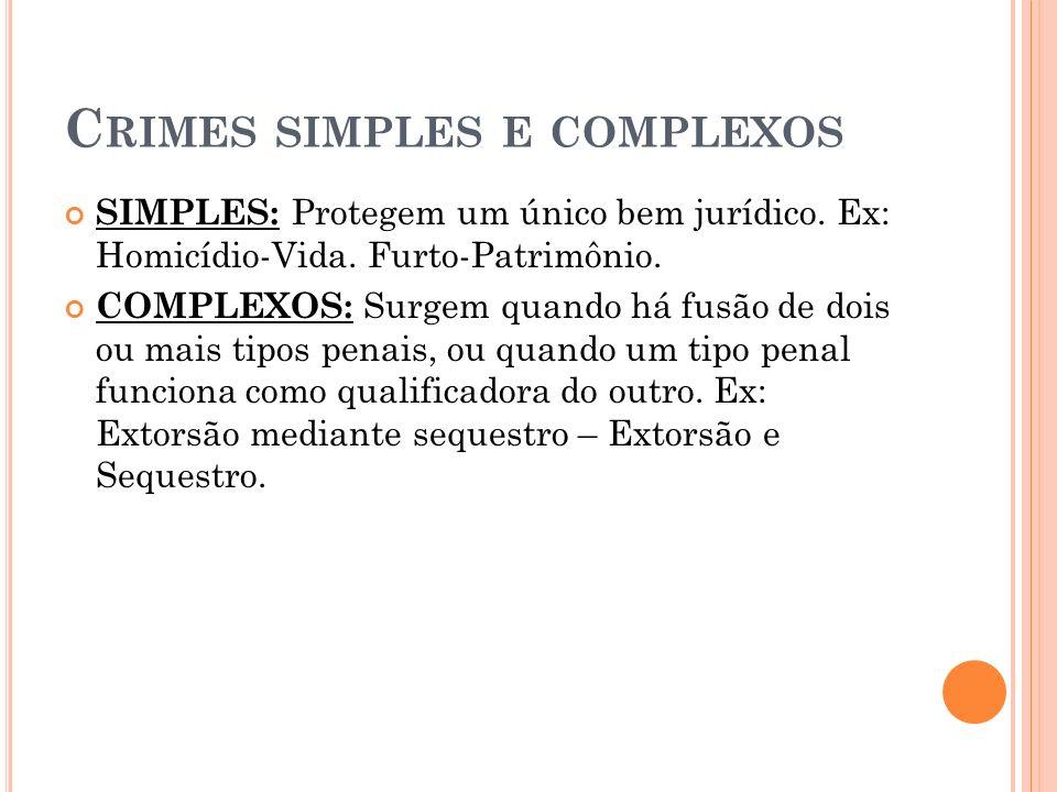 Crimes simples e complexos
