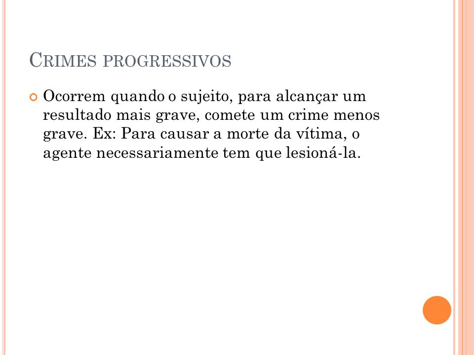Crimes progressivos