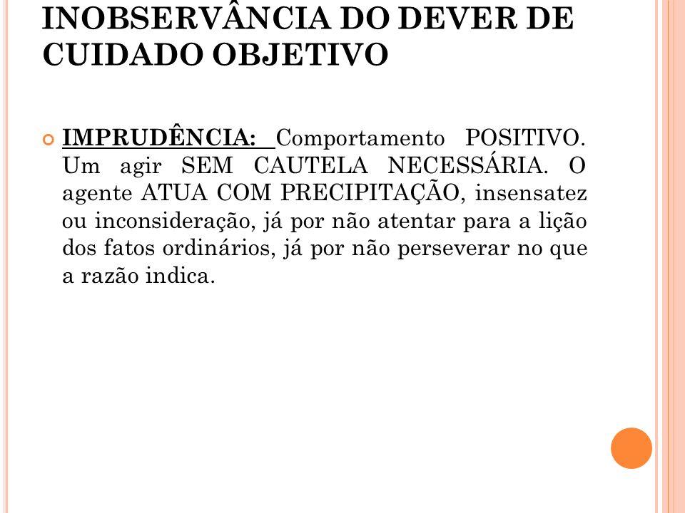 INOBSERVÂNCIA DO DEVER DE CUIDADO OBJETIVO