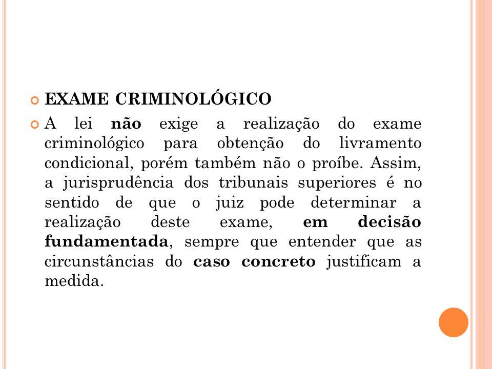EXAME CRIMINOLÓGICO