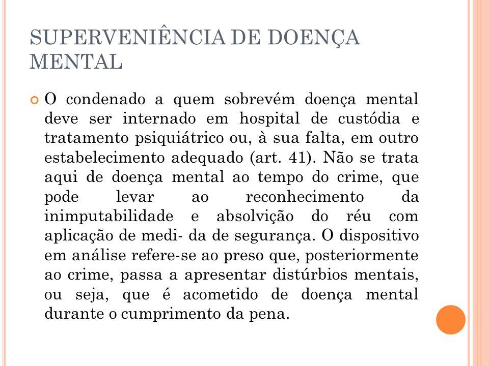 SUPERVENIÊNCIA DE DOENÇA MENTAL