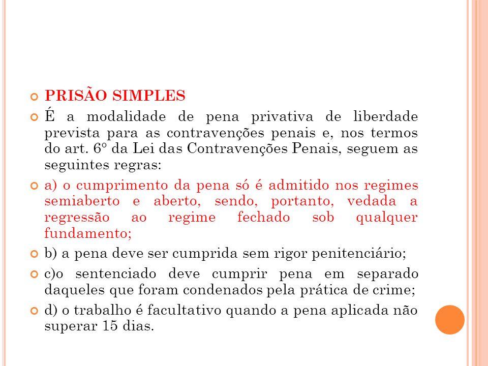 PRISÃO SIMPLES