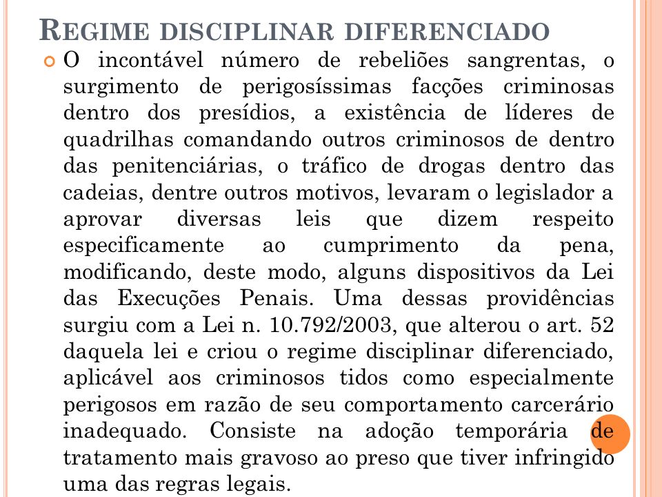 Regime disciplinar diferenciado