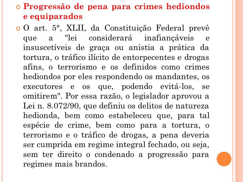 Progressão de pena para crimes hediondos e equiparados