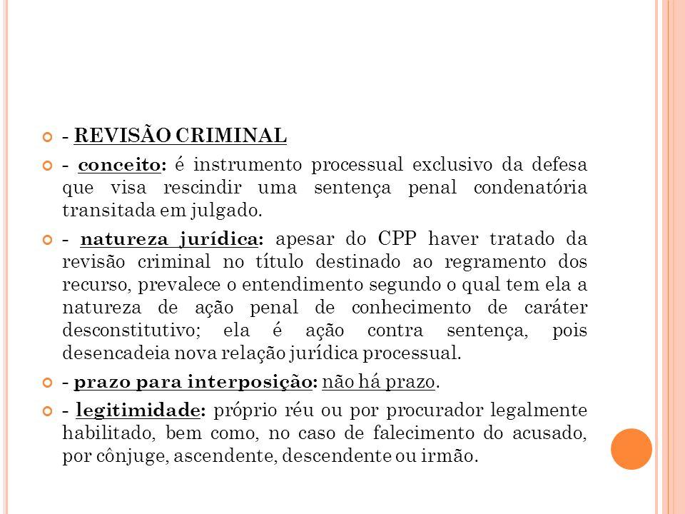 - REVISÃO CRIMINAL