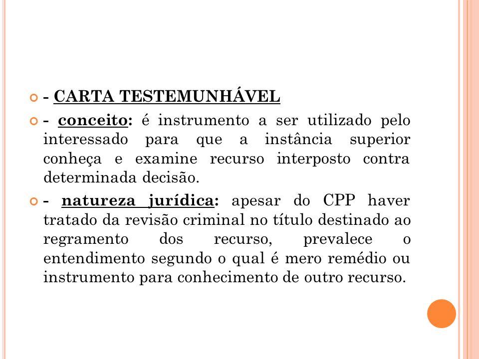 - CARTA TESTEMUNHÁVEL