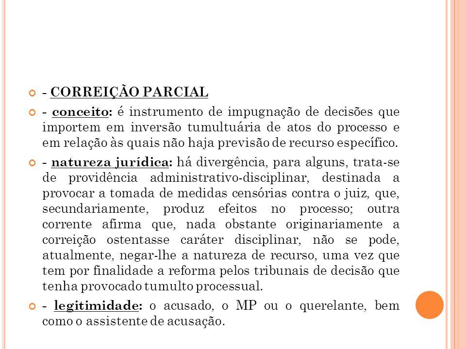 - CORREIÇÃO PARCIAL