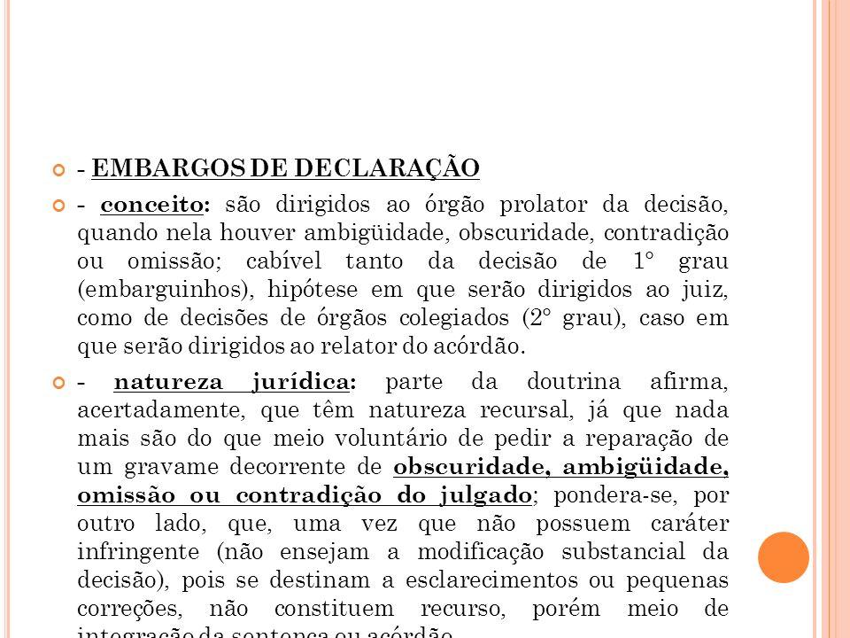 - EMBARGOS DE DECLARAÇÃO