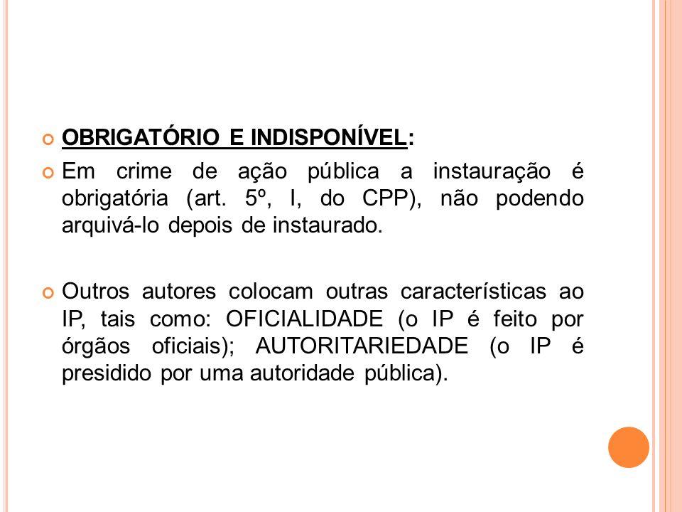 OBRIGATÓRIO E INDISPONÍVEL: