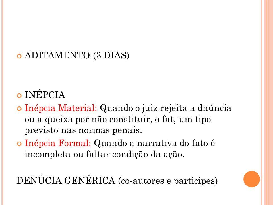 ADITAMENTO (3 DIAS) INÉPCIA.