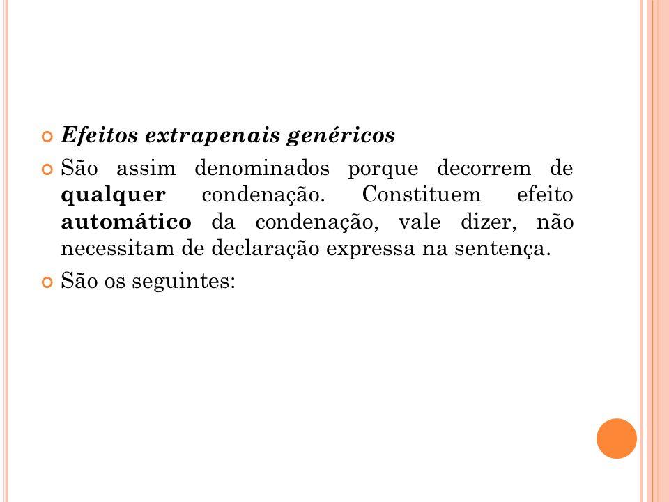 Efeitos extrapenais genéricos